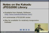 Still frame from: Code4Lib 2008 Lightning Talk: JPEG2000 to Zoomify Shim