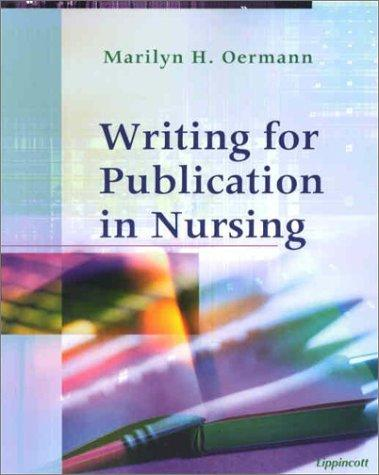 Download Writing for Publication in Nursing