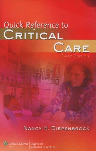 Download Quick Reference to Critical Care