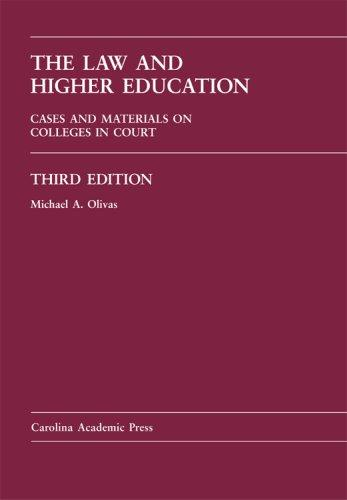 Download The Law And Higher Education