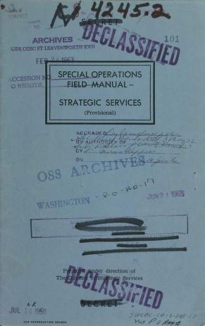 Cover of: Special Operations Field Manual, Strategic Services (provisional) |
