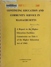 Continuing education and community service in Massachusetts by Kenneth Haygood