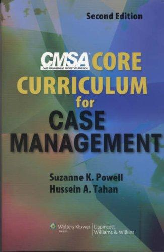 CMSA Core Curriculum for Case Management by Suzanne K. Powell